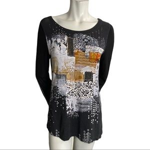 Simply Art by Dolceeza Multi Patterned Top Size M
